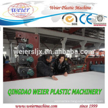 Plastic PVC board extrusion line testing