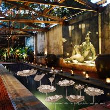 Hotel Garten Haus Blume Dekor Metall Handwerk Metall Lotus Dekor