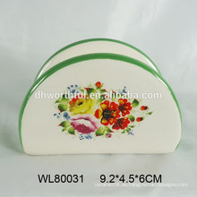 Sostenedor de la servilleta de cerámica del diseño simple