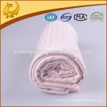 Matériau en bambou doux biologique Matériau de couleur pure Récipient récepteur thermique pour bambou en mousseline de soie