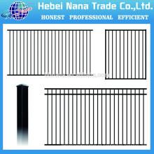 sistemas de barandilla de aluminio cerca de aluminio negro / China precio bajo cerca de aluminio pecessed