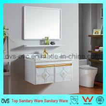 Gabinete empotrado de vanidad de lavabo con espejo