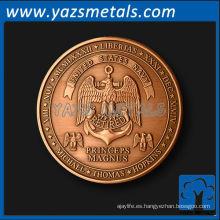 las monedas de encargo, personalizan la moneda del retiro de la alta calidad en cobre