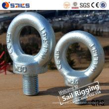 Boulon d'oeil galvanisé d'acier au carbone forgé par M33 DIN580