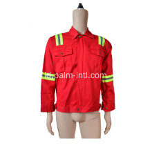 100% Cotton Red Color Jacket