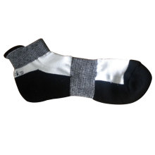 Hombres arco apoyo corriendo calcetines deportivos con tobillo alto (mas-02)