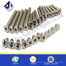 bolt and nut supplier M6 machine screw Stainless steel 304 pan head machine screw