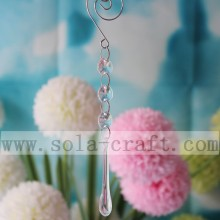 10*61MM Acrylic Polished Teardrop Drop Smooth Raindrop With Jump Ring For Lamp Chandelier Craft Parts