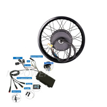 Free Shipping 100km/h 19inch 72v 5000w rear wheel hub motor e bike conversion kit with waterproof cables
