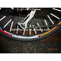 colorful stripe plastic Reflective Bicycle Wheel Sticker