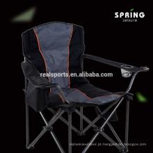 Lounger de aço de aço portátil elegante do metal com a cadeira de dobradura de acampamento da praia do braço