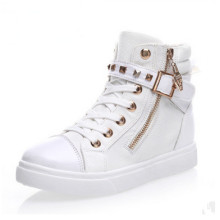 New Fashion Style Girl Canvas Shoes with Zipper (NF-9)