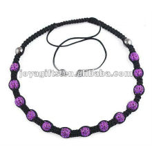 Purple Color 13PCS Crystal balls shamballa necklace