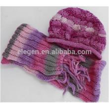 Mujeres nuevo diseño China fábrica Otoño / Invierno hecho punto Marching sombreros