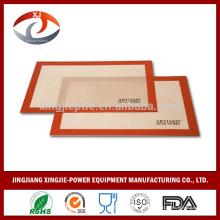 Funda para hornear de silicona segura para el horno recubierta con fibra de vidrio