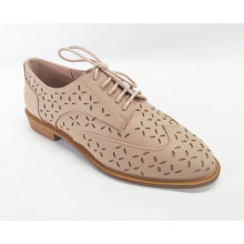 Women's Perforated Lace-up Shoes Brogue Wingtip
