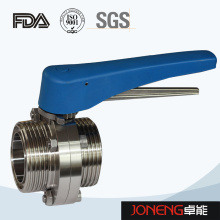 Stainless Steel Plastic Handle Threaded Sanitary Butterfly Valve (JN-BV2002)