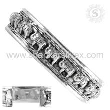 El brazalete de plata llano hermoso ofrece al por mayor la joyería de plata hecha a mano de la joyería de la plata esterlina 925