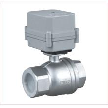 Válvula de atuador elétrico de 2 vias Motorizada válvula de esfera de água de aço inoxidável (A100-T40-S2-C)