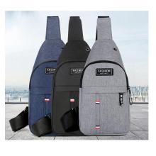 Wholesale men's fashion chest bag Outdoor storage bags causal crossbody shoulder bag