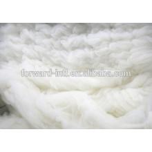 gekämmte Kaschmir-Faser weiß, hellgrau, braun