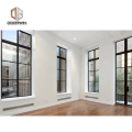 Factory outlet american crank casement window aluminum with grill design