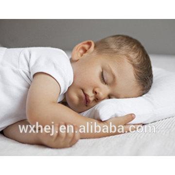 Atacado 100% algodão Branco branco Microfibra confortável travesseiro de crianças