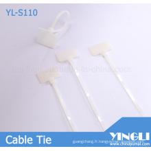Étiquettes de câble de sécurité avec numéro de série