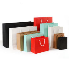 Nylon Rope Handle Shopping Grey Card Paper Bag Matt Lamination Art Paper Bag With Embossing and Hot Stamping Printing