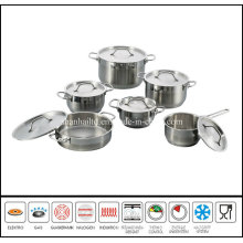 12PCS New Product in China Cookware Steel