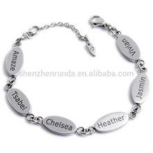 Pulseira de vendas quente 2015 braceletes pulseira carta no atacado