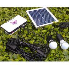 Lámparas de luces LED de energía eléctrica rural con lámparas de plata de 3W LED 1W de color plateado