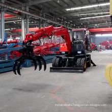 Newly Design Hydraulic Wheel Excavator Moving Type Mini Excavator With CE