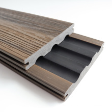 China Manufacturer 3D-Embossed Deck Panel Garden Terrace Wood Plastic Composite Board Outdoor Flooring