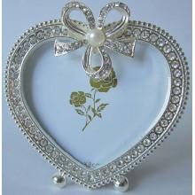 Coração forma pequeno tamanho foto moldura para casamento