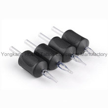 Cheap 30mm New Disposable Black Rubber Tattoo Grips with Clear Tips