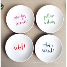 (BC-PM1033) High Quality Reusable Imitation Porcelain Melamine Plate
