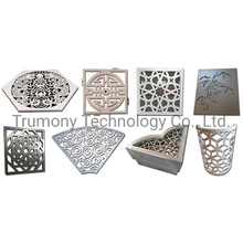 Color Paint Perforated Aluminum Metal 3D Wall Sheet Hollow-Carved Design Aluminium Sold Panels