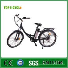 "TOP China Hersteller E-cycle 26 ""Stadt E-Bike mit Pedalen Elektro-City-Bike"