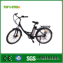 """TOP China Manufacturer E-cycle 26"""" city ebike with pedals electric city bike"""