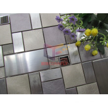 Aluminium Mix Stainless Steel and Marble Mosaic (CFM1031)