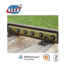 Barre d'épissure en acier isolée de 75 kg pour la fixation ferroviaire