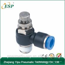China accesorios de controlador de velocidad neumática de plástico