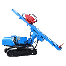 ground screw electric pile driver for construction, solar power system
