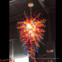 Lustre en verre coloré à la main chihuly multi coloré pour la décoration