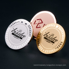 Fashion Factory Direct Custom Design Stainless Steel Round Gold Plated Tag With Logo