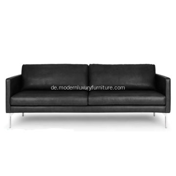 High-End Echo Oxford Schwarzes Ledersofa