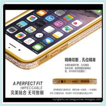 Caja de parachoques de lujo del teléfono del marco del diamante para iPhone6