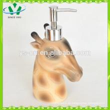 Accesorio de baño de cerámica de cerámica de los ciervos sika encantador dispensador de jabón líquido