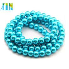 8mm tschechische runde lose Perlen Aquamarin Farbe Glasperlen